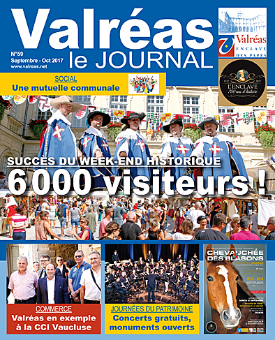 Valréas Le Journal Sep Oct 2017 P1