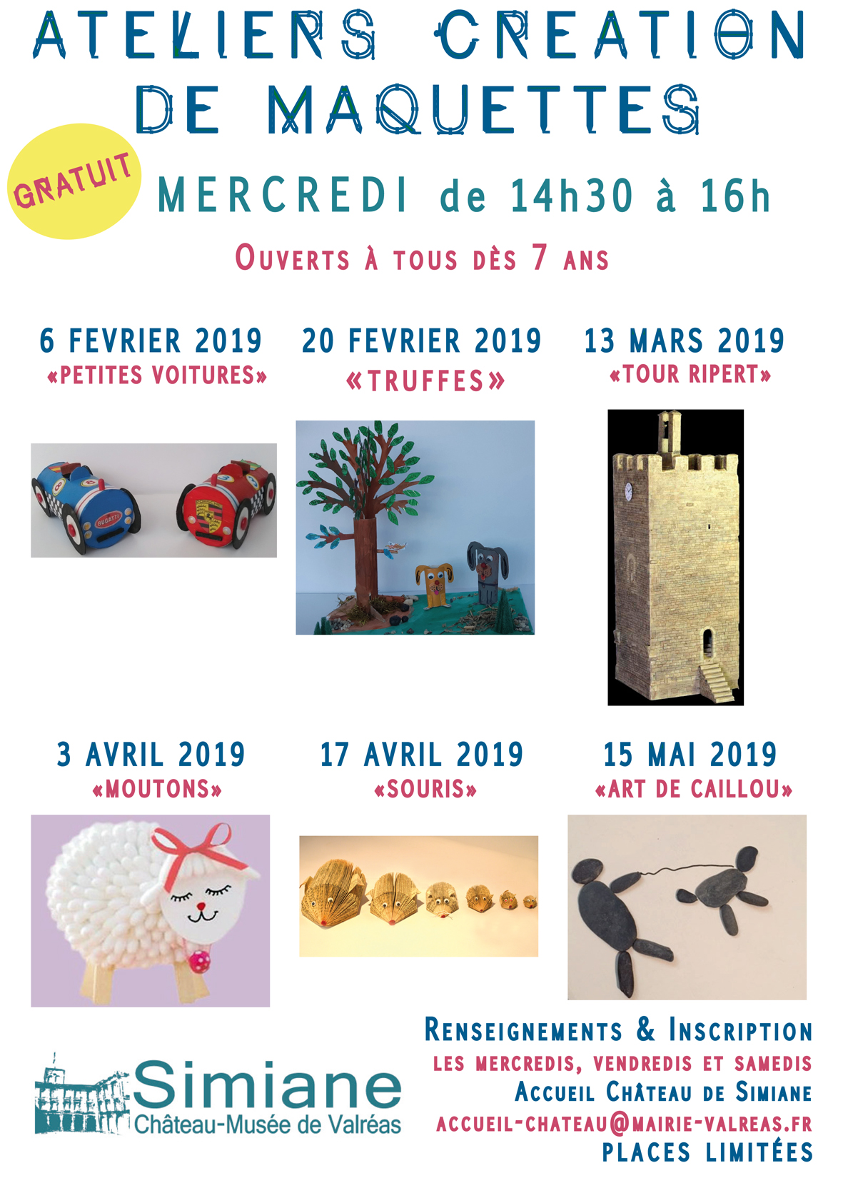 AFFICHE 6 ATELIERS 2019